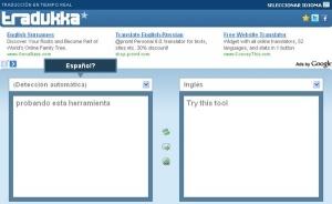 Tradukka Traductor gratis de inglés a español más preciso. tradukka